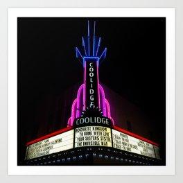 Coolidge Corner Theater Marquee Art Print