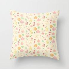 Fruit and Flora Throw Pillow