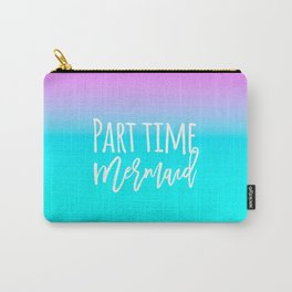 Modern summer part time mermaid typography pink blue gradient Carry-All Pouch