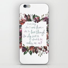 The Hate U Give Angie Thomas Quote iPhone Skin