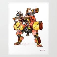 The Light Assault Walker Art Print