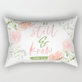 Be Still and Know Bible Verse Rectangular Pillow