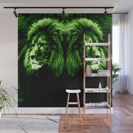 Green LION Wall Mural