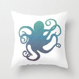 The Blue Octopus Throw Pillow