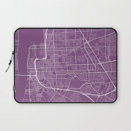 Baton Rouge Map, USA - Purple Laptop Sleeve