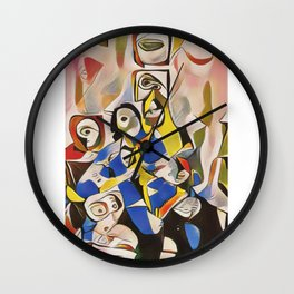 """Minimalistic Vibrant Abstract Art-Piece titled """"One"""" Wall Clock"""