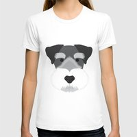 schnauzer T-shirts featuring Miniature Schnauzer  by Three Black Dots