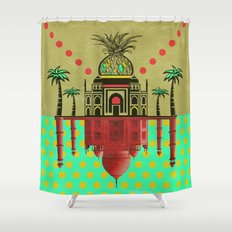 pineapple architecture 2 Shower Curtain