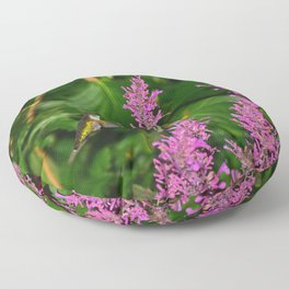 Hummingbird and agastache flower 60 Floor Pillow
