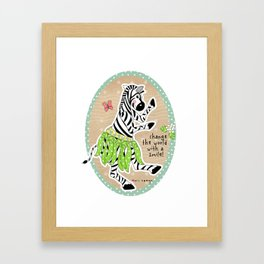 Change the World with a Smile Framed Art Print