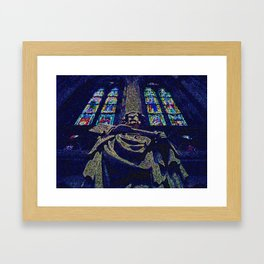 Working with Stained Glass Framed Art Print