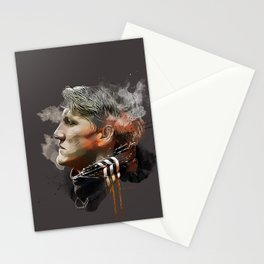 Bastian Schweinsteiger - MUFC painting Stationery Cards