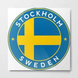 Sweden, Stockholm, circle Metal Print