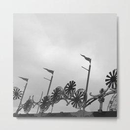 Coney Island Lights Metal Print