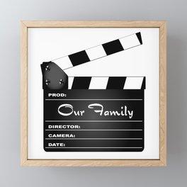 Our Family Clapperboard Framed Mini Art Print