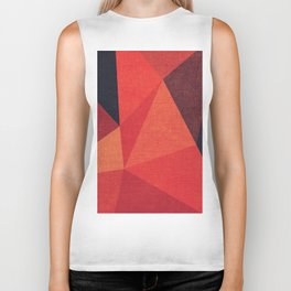 Abstract geometric patter.Triangle background Biker Tank