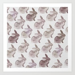 Watercolor Bunnies 1M by Kathy Morton Stanion Art Print