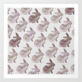 Watercolor Bunnies 1M by Kathy Morton Stanion Art Print