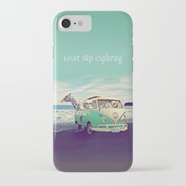 NEVER STOP EXPLORING THE BEACH iPhone Case