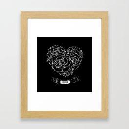 """Like roses, we blossom and die""- BMTH Framed Art Print"