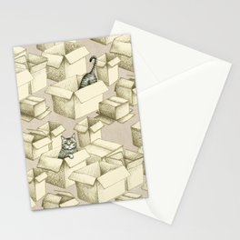 Cozy Cats in Boxes Stationery Cards