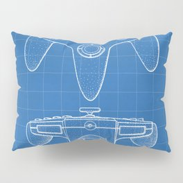 Nintendo N64 Patent - N64 Controller Art - Blueprint Pillow Sham