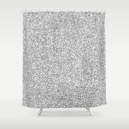 Spacey Melange - White and Gray Shower Curtain