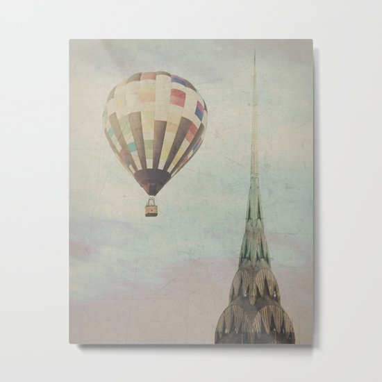 Balloon over the Chrysler Metal Print
