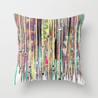 fringe Throw Pillows featuring Fringe Benefits by Lynsey Ledray