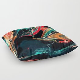 ABSTRACT COLORFUL PAINTING II-A Floor Pillow