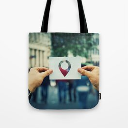 holding pointer icon Tote Bag