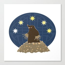Mole stargazing Canvas Print