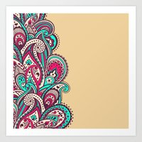 paisley Art Prints featuring Paisley by Cultivate Bohemia