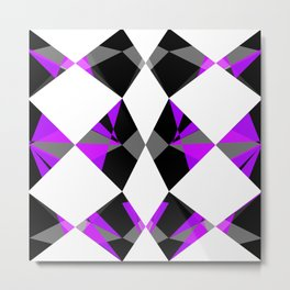 Gemstones Purple Metal Print
