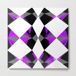 Gemstones Purple Metal Print