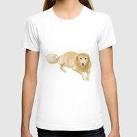 golden retriever T-shirts featuring Golden Retriever by Bark Point Studio