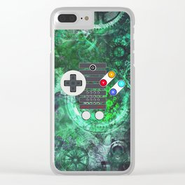 Game Controller Super Steampunk Clear iPhone Case