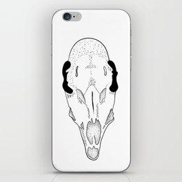 Dark skull of roe deer iPhone Skin
