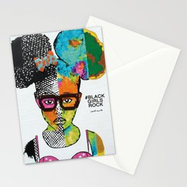 Girl with Afro Puffs Stationery Cards