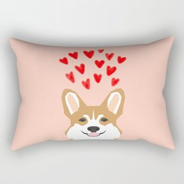 Valentines - Love Corgi  Rectangular Pillow