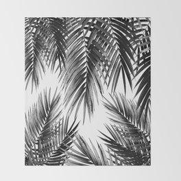 Palm Leaf Jungle Vibes #3 #tropical #decor #art #society6 Throw Blanket