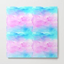 Watercolor blocks in pastel Metal Print