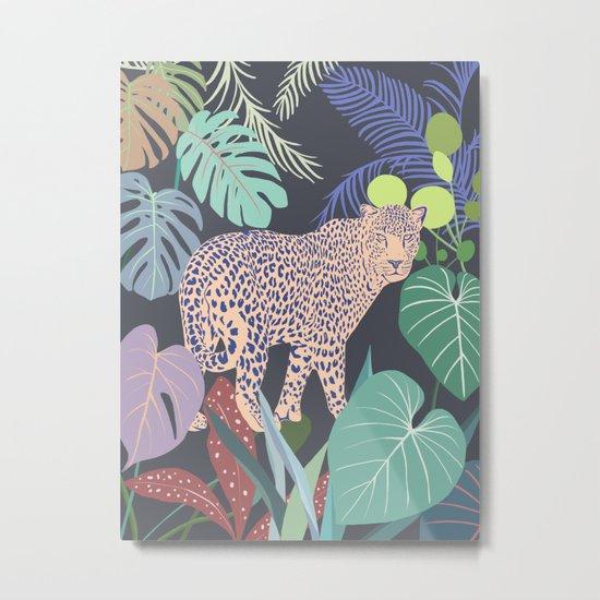 Hello Leopard Metal Print