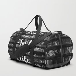 Books Wash Away From the Soul the Dust of Everyday Life - Misquote Duffle Bag