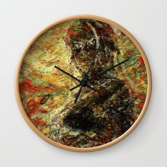Phoenix in the Wind Wall Clock