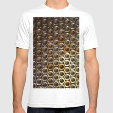 Nuts SMALL White Mens Fitted Tee