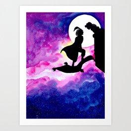 """Aladdin & Jasmine - """"Goodnight"""" Art Print"""