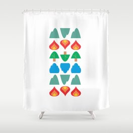 Synthesis of Natural Forms Shower Curtain
