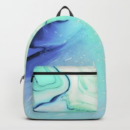 Marble azure texture Backpack