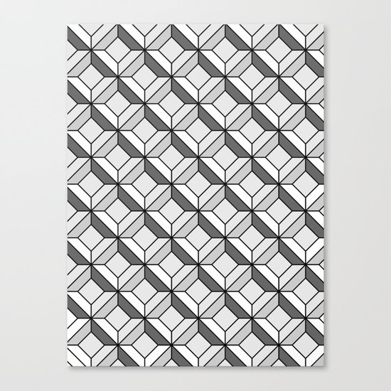 Squares in Gray Canvas Print